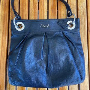 COACH Black Ashley Hippie Bag NoG1132-F17605